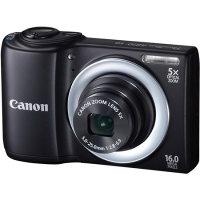 PowerShot A810 16MP Black Digital Camera w/ 5x Zoom & 720p HD Video