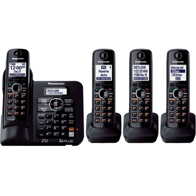 KX-TG6644B DECT 6.0 Expandable Digital Cordless Answering System with 4 handsets