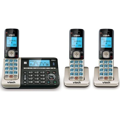 DS6751-3 2 Handset Connect to Cell Answering System w/ Caller ID/Call Waiting