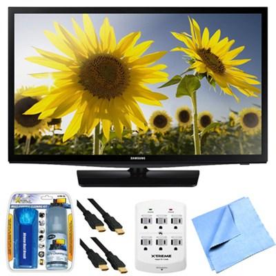 UN24H4500 24-inch HD 720p Smart LED TV Clear Motion Rate 120 Plus Hook-Up Bundle