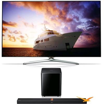 UN46F7500 46 inch 1080p 240hz 3D Smart Wifi LED + HWF750 Soundbar Bundle