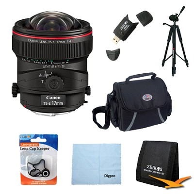 TS-E 17mm f/4L Ultra-Wide Tilt-Shift Manual Focus Lens Exclusive Pro Kit