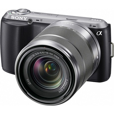 Alpha NEX-C3 Interchangeable Lens Black Digital Camera w/ 18-55mm Lens-OPEN BOX