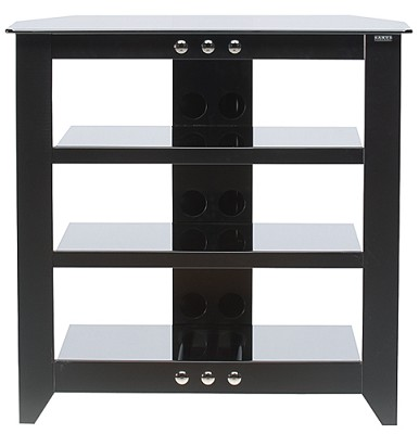 NFAV230 - Natural Four Shelf A/V Stand for TVs up to 32` (Black Finish)