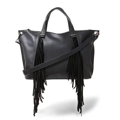 Lucyy Fringe Tote Bag in Black