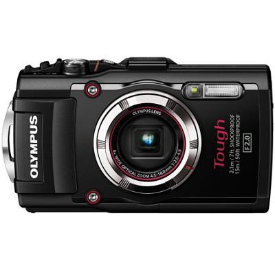 TG-3 16MP 1080p HD Shockproof Waterproof Digital Camera - Black