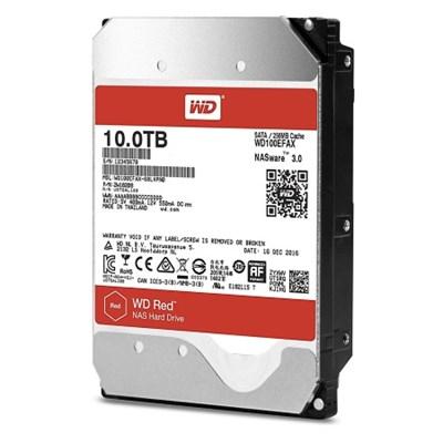 WD100EFAX 10TB 3.5` NAS Hard Disk Drive - 5400 RPM SATA 6 Gb/s 256MB (Red)