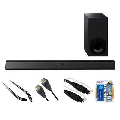 2.1ch 300Watt B.tooth Sound Bar with Wireless Subwoofer HT-CT380 w/ Bracket Kit