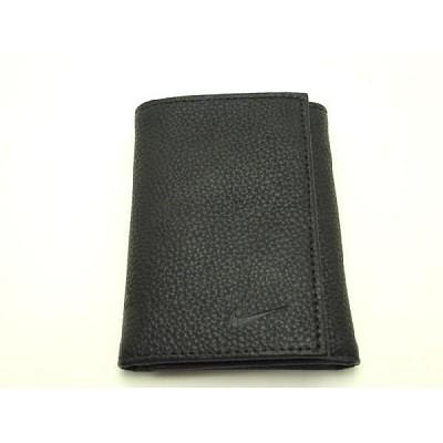 Tri Fold Pebble Grain Leather Passcase Wallet (Black)