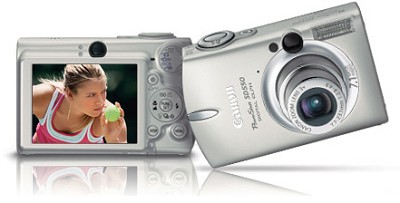 Powershot SD550 Digital ELPH Camera Silver (Grey) Edition