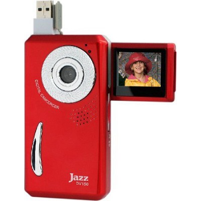 Video Recorder with Camera, Color LCD, YouTube/Facebook/Flickr Ready - Red
