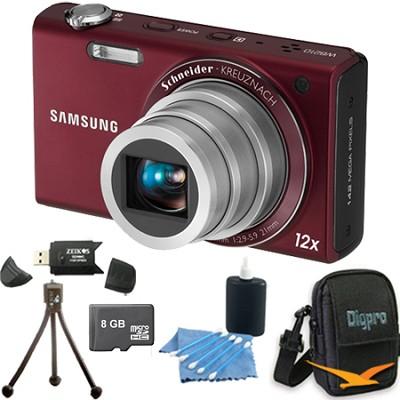WB210 Burgundy Digital Camera 8 GB Bundle