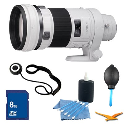 SAL300F28G G Series 300mm f/2.8 G Telephoto Lens for Alpha DSLR's Essentials Kit