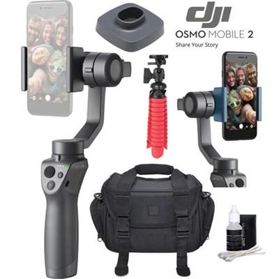 Osmo Mobile 2 Smartphone Gimbal Videographer Bundle With Charging Base , Tripod