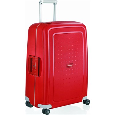 S'Cure 20` Zipperless Spinner Luggage - Crimson Red- (49539-1235)