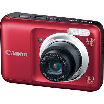 PowerShot A800 10MP Red Digital Camera w/ 3.3x Optical Zoom