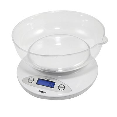 Digital Kitchen Bowl Scale Wht