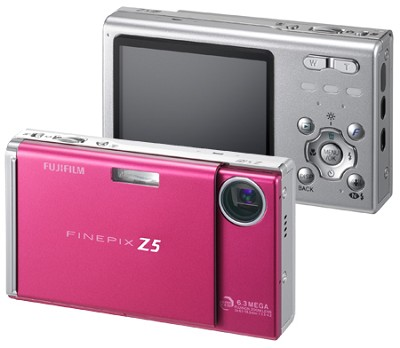FinePix Z5fd 6.3 MP, Super CCD and Real Photo Technology (Wine Red)