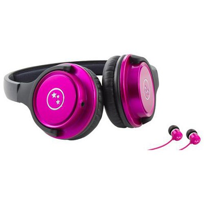 Musician's Choice Stereo Headphone Plus Sound Isolation Earbuds - Pink