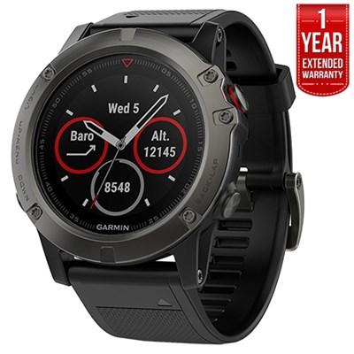 Fenix 5X Sapphire Multisport 51mm GPS Watch Gray,Black +1 Year Extended Warranty