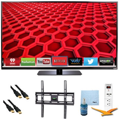 50` LED Smart HDTV 1080p Full HD 120Hz Plus Mount & Hook-Up Bundle - E500i-B