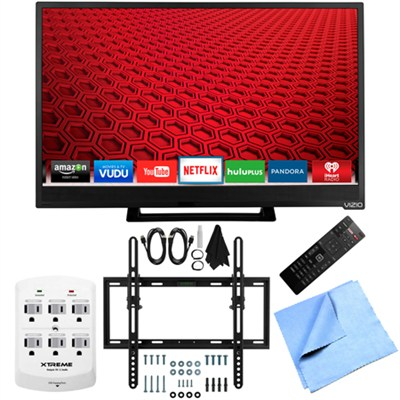 E24-C1 - 24-Inch 1080p 60Hz Smart LED HDTV Flat & Tilt Wall Mount Bundle