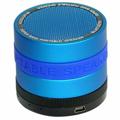 Portable Bluetooth Speaker with 8 Customizable Color Bands - Blue Speaker