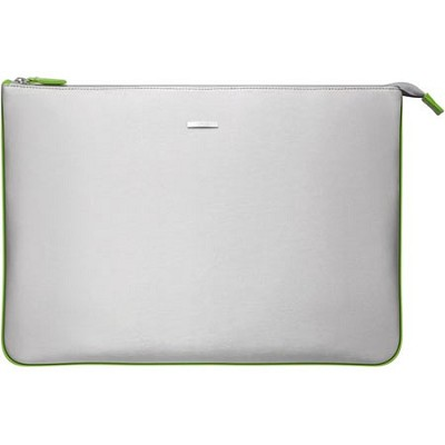 VGP-CPC1/G 15.5` Notebook Carrying Pouch - Silver, Green Interior