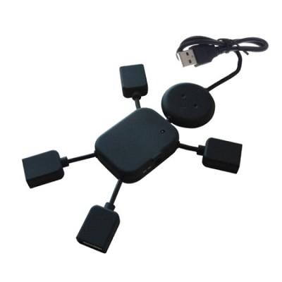 4-Port Man Shaped USB Hub in Black