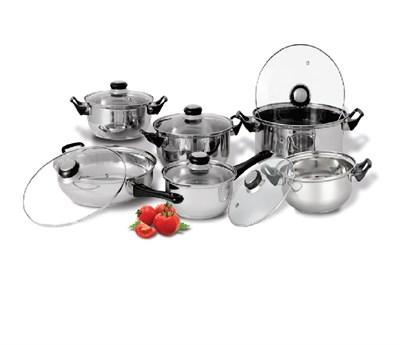 12 Piece Stainless Steel Cookware Set CS20159
