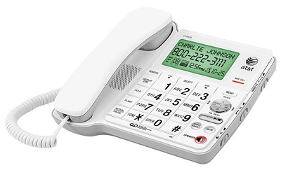 Corded Phone with Digital Answering System and Large Tilt Display