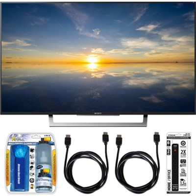 XBR-43X800D - 43` Class 4K HDR Ultra HD TV w/ Essential Accessory Bundle