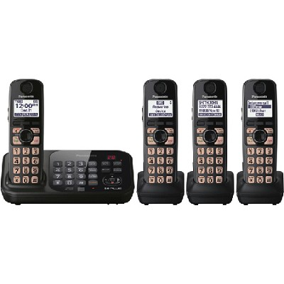 KX-TG4744B Dect 6.0 4-Handset Landline Telephone