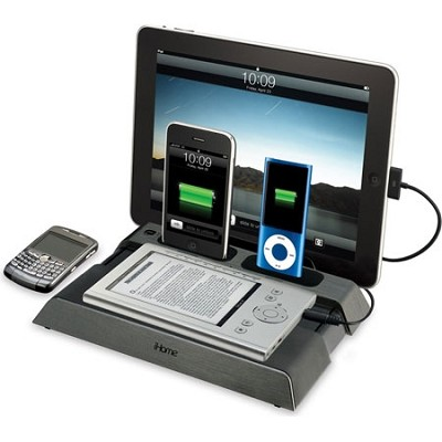 IB969G Charging Station for iPad, iPod, iPhone, BlackBerrys and eReaders