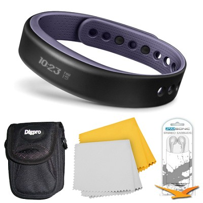 vivosmart Bluetooth Fitness Band Activity Tracker - Large - Purple Bundle