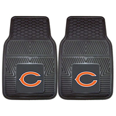 NFL Chicago Bears Vinyl Heavy Duty Car Mat - Set of Two