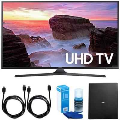 UN40MU6300FXZA 40` 4K Ultra HD Smart LED TV + Cut the Cord Wireless Tuner Bundle
