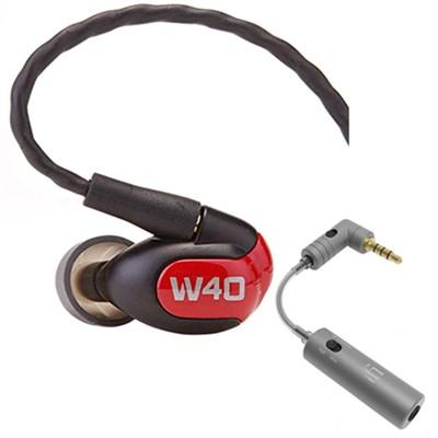 W40 Quad Driver Premium In-Ear Monitor Headphones - 78504 w/ iFi Audio iEMATCH