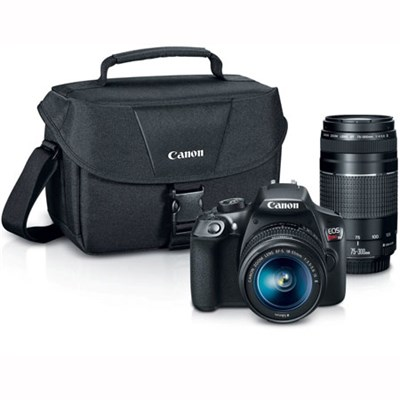 EOS Rebel T6 DSLR Camera w/ EF-S 18-55mm IS II and EF 75-300mm F4-5.6 III Lenses