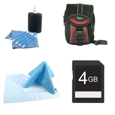 4GB SD Memory Card, DPTR75, 3 pcs cleaning kit, microfiber cloth
