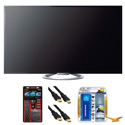 KDL-55W802A 55` W802 Series LED 3D Internet HDTV Surge Protector Bundle