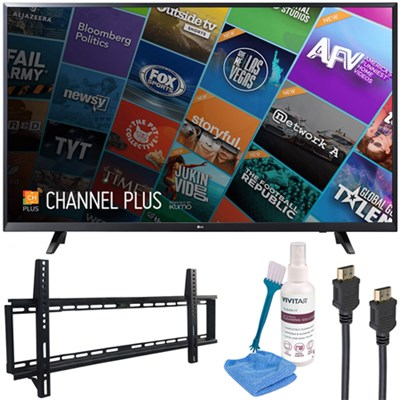 55` Class (54.6` Diag) 4K UHD HDR Smart LED TV 2018 Model with Wall Mount Kit