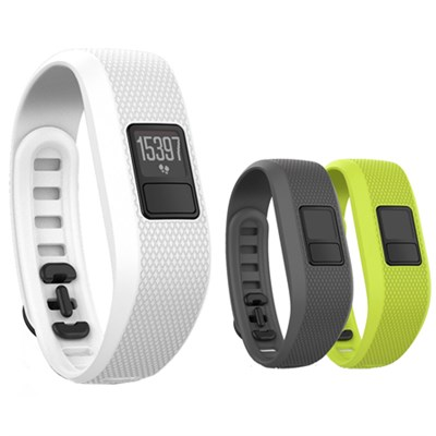 vivofit 3 Activity Tracker - Regular Fit - White with 3 Accessory Bands