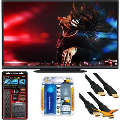 LC-80LE650U Aquos 80` 1080p WiFi 120Hz 1080p LED TV with Surge Protector Bundle