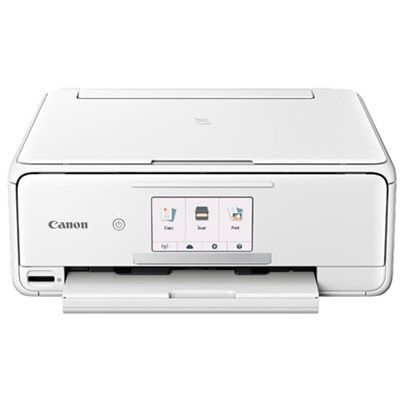 PIXMA TS8120 Wireless Inkjet All-in-One Printer with Scanner & Copier (White)