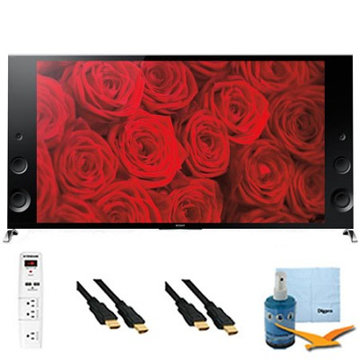 XBR79X900B - 79` 120Hz 3D LED Premium 4K Ultra HD TV Plus Hook-Up Bundle