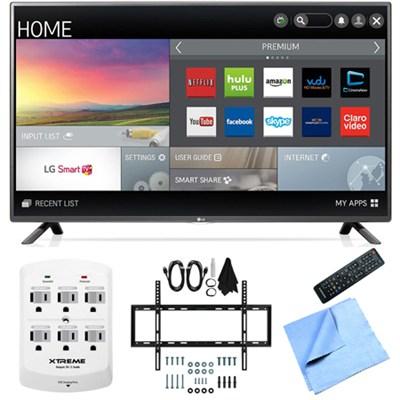 55LF6100 - 55-inch 120Hz Full HD 1080p LED HDTV Slim Flat Wall Mount Bundle