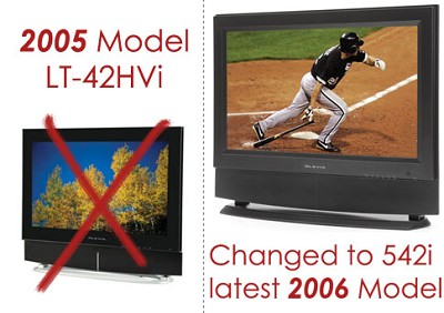 Olevia LT42HVi - 42` HD LCD Flat Panel TV (upgraded to the new Olevia 542i HDTV)