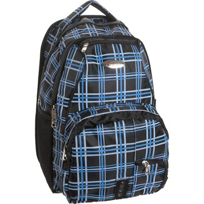 Child School BackPack, Blue Plaid, One Size