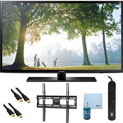 UN40H6203 - 40` HD 1080p Smart TV Clear Motion Rate 240 Mount & Hook-Up Bundle